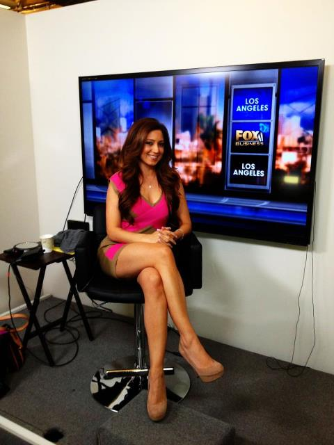 Anahita on the set at FOX News. Smiling after winning yet another debate!