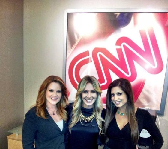 Anahita Sedaghatfar Behind The Scenes In The CNN Green Room