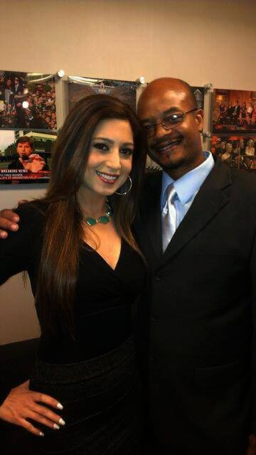 Anahita Sedaghatfar At CNN With Actor Todd Bridges